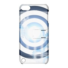 Center Centered Gears Visor Target Apple iPod Touch 5 Hardshell Case with Stand