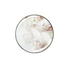 Orchids Flowers White Background Hat Clip Ball Marker (4 pack)