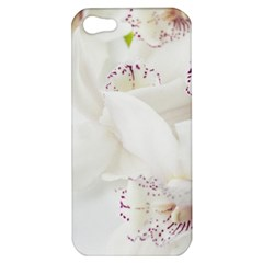 Orchids Flowers White Background Apple iPhone 5 Hardshell Case