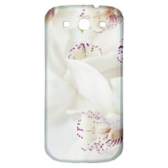 Orchids Flowers White Background Samsung Galaxy S3 S III Classic Hardshell Back Case