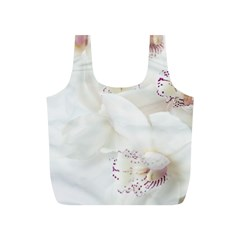 Orchids Flowers White Background Full Print Recycle Bags (S)