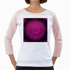 Purple Background Scrapbooking Abstract Girly Raglans