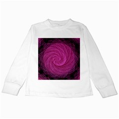 Purple Background Scrapbooking Abstract Kids Long Sleeve T-Shirts
