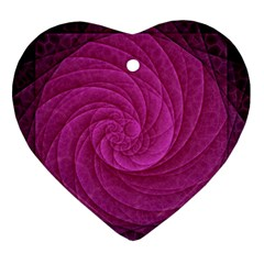 Purple Background Scrapbooking Abstract Heart Ornament (Two Sides)