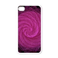 Purple Background Scrapbooking Abstract Apple iPhone 4 Case (White)