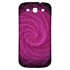 Purple Background Scrapbooking Abstract Samsung Galaxy S3 S III Classic Hardshell Back Case