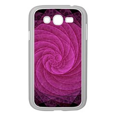 Purple Background Scrapbooking Abstract Samsung Galaxy Grand DUOS I9082 Case (White)