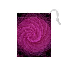 Purple Background Scrapbooking Abstract Drawstring Pouches (Medium)