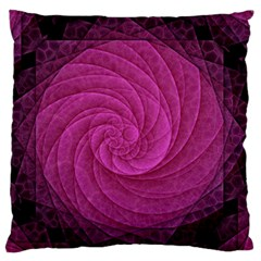 Purple Background Scrapbooking Abstract Large Flano Cushion Case (Two Sides)