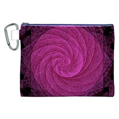 Purple Background Scrapbooking Abstract Canvas Cosmetic Bag (XXL)