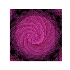 Purple Background Scrapbooking Abstract Small Satin Scarf (Square)