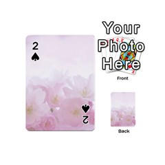 Pink Blossom Bloom Spring Romantic Playing Cards 54 (Mini)