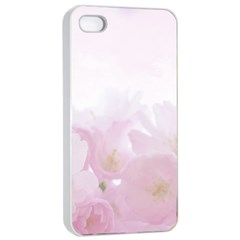 Pink Blossom Bloom Spring Romantic Apple iPhone 4/4s Seamless Case (White)