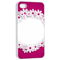 Photo Frame Transparent Background Apple iPhone 4/4s Seamless Case (White)