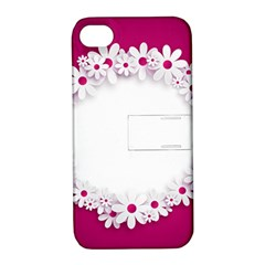 Photo Frame Transparent Background Apple iPhone 4/4S Hardshell Case with Stand