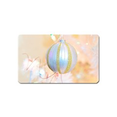 Sphere Tree White Gold Silver Magnet (Name Card)