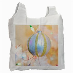 Sphere Tree White Gold Silver Recycle Bag (One Side)