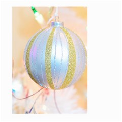 Sphere Tree White Gold Silver Large Garden Flag (Two Sides)