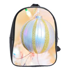 Sphere Tree White Gold Silver School Bags (XL)
