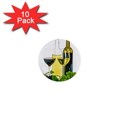 White Wine Red Wine The Bottle 1  Mini Buttons (10 pack)