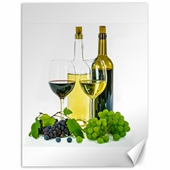 White Wine Red Wine The Bottle Canvas 18  x 24