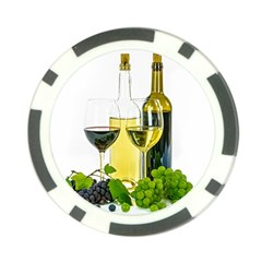 White Wine Red Wine The Bottle Poker Chip Card Guard