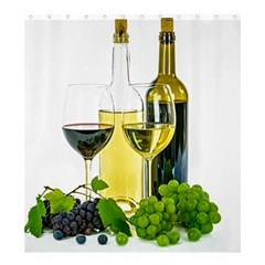 White Wine Red Wine The Bottle Shower Curtain 66  x 72  (Large)