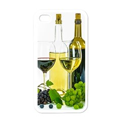 White Wine Red Wine The Bottle Apple iPhone 4 Case (White)