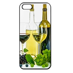 White Wine Red Wine The Bottle Apple iPhone 5 Seamless Case (Black)