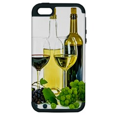 White Wine Red Wine The Bottle Apple iPhone 5 Hardshell Case (PC+Silicone)