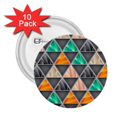 Abstract Geometric Triangle Shape 2.25  Buttons (10 pack)