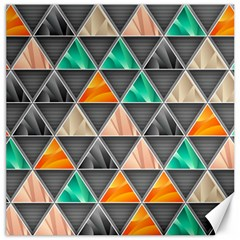 Abstract Geometric Triangle Shape Canvas 16  x 16