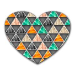 Abstract Geometric Triangle Shape Heart Mousepads