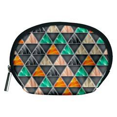 Abstract Geometric Triangle Shape Accessory Pouches (Medium)