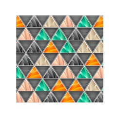 Abstract Geometric Triangle Shape Small Satin Scarf (Square)