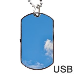 Air Sky Cloud Background Clouds Dog Tag USB Flash (One Side)