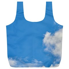 Air Sky Cloud Background Clouds Full Print Recycle Bags (L)
