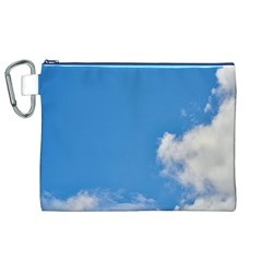 Air Sky Cloud Background Clouds Canvas Cosmetic Bag (XL)