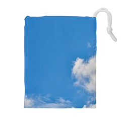 Air Sky Cloud Background Clouds Drawstring Pouches (Extra Large)