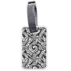 Gray Scale Pattern Tile Design Luggage Tags (Two Sides)
