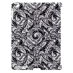 Gray Scale Pattern Tile Design Apple iPad 3/4 Hardshell Case (Compatible with Smart Cover)