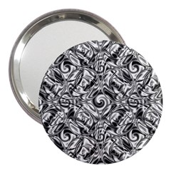 Gray Scale Pattern Tile Design 3  Handbag Mirrors