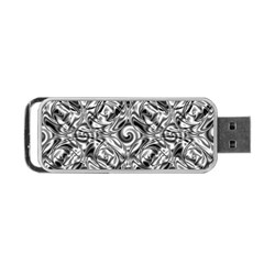 Gray Scale Pattern Tile Design Portable USB Flash (One Side)