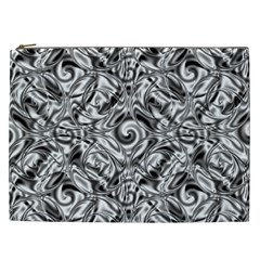 Gray Scale Pattern Tile Design Cosmetic Bag (XXL)