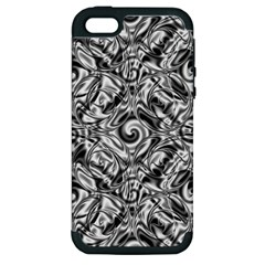 Gray Scale Pattern Tile Design Apple iPhone 5 Hardshell Case (PC+Silicone)
