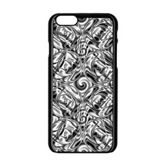 Gray Scale Pattern Tile Design Apple iPhone 6/6S Black Enamel Case