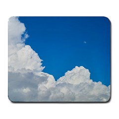 Sky Clouds Blue White Weather Air Large Mousepads