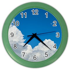 Sky Clouds Blue White Weather Air Color Wall Clocks