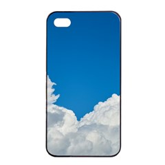 Sky Clouds Blue White Weather Air Apple iPhone 4/4s Seamless Case (Black)