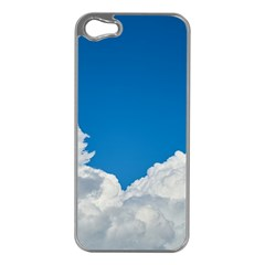 Sky Clouds Blue White Weather Air Apple iPhone 5 Case (Silver)